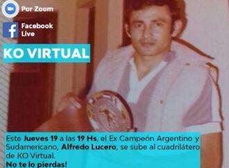 Alfredo Lucero se sube al ring para un «KO Virtual»