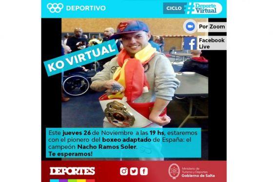 """El campeón de España de Boxeo Adaptado Nacho """"El Calorro"""" Ramos Soler en el KO virtual para los salteños"""